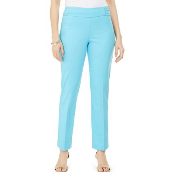 JM Collection Womens Studed Pull On Pants
